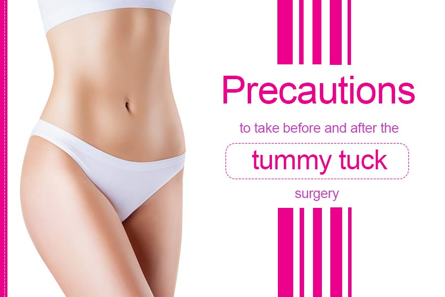 Before and After the tummy tuck surgery