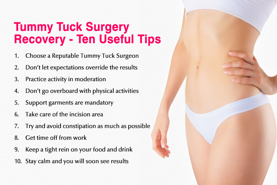 Tummy Tuck Surgery Recovery – Ten Useful Tips